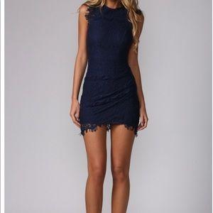 NWT Hello Molly Navy Blue Dress
